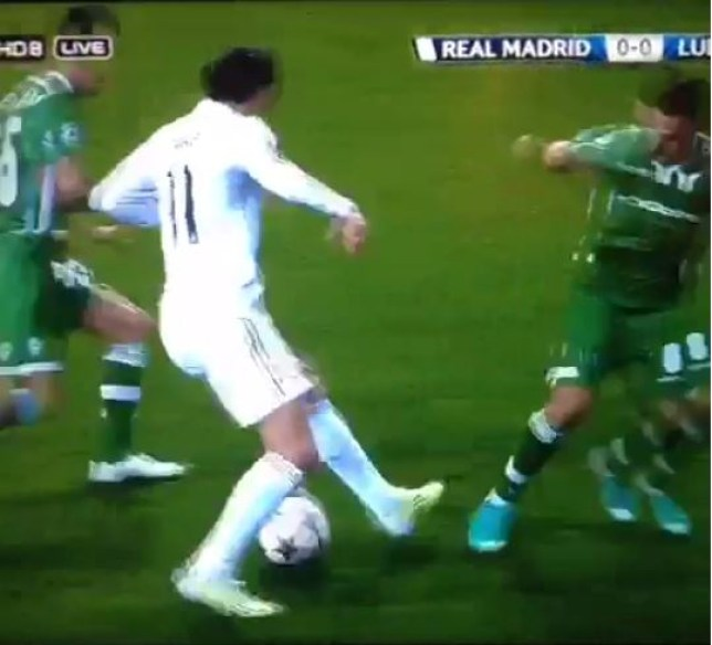 Gareth Bale had the ball glued to his feet (Picture: Vine)