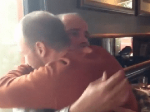 The heartfelt moment a man crashes his twin brother's 30th birthday