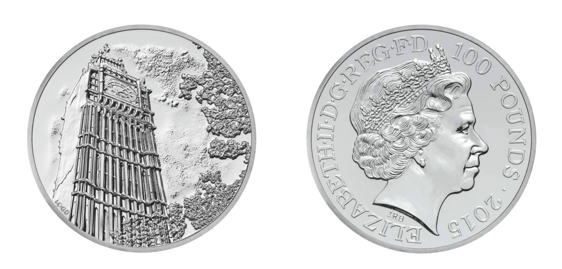 The New £100 coin will be released to celebrate the New Year Picture: Royal Mint/Rex Features)