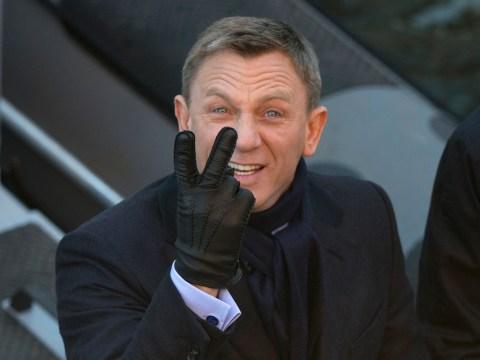 The name's Bond, joker Bond: Daniel Craig plays up to paps on set