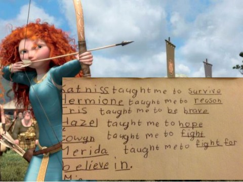 Little girl's list of what she's learnt from her favourite literary heroines will give you hope