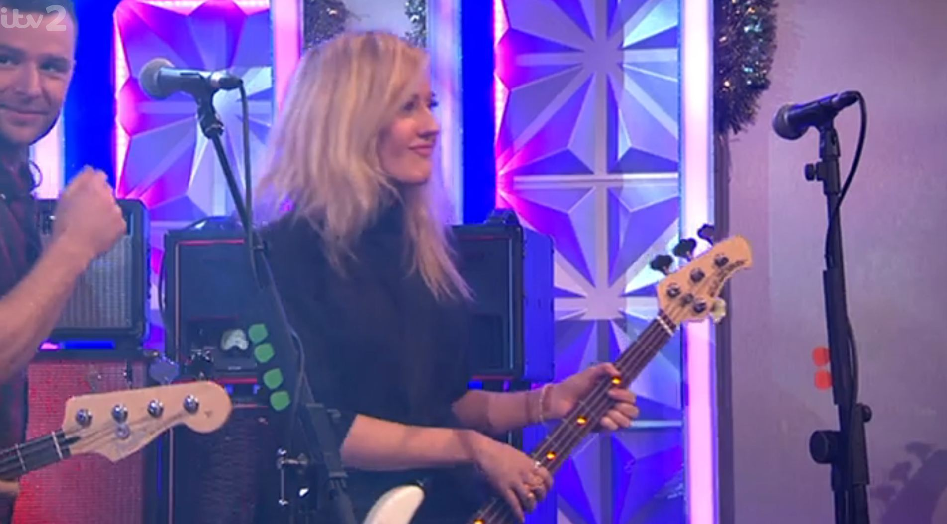 'Someone's had a bit of a makeover!' Ellie Goulding replaces Dougie Poynter in McBusted on Xtra Factor