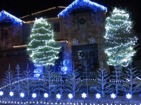 This Christmas lights sequence set to Let It Go is pretty spectacular
