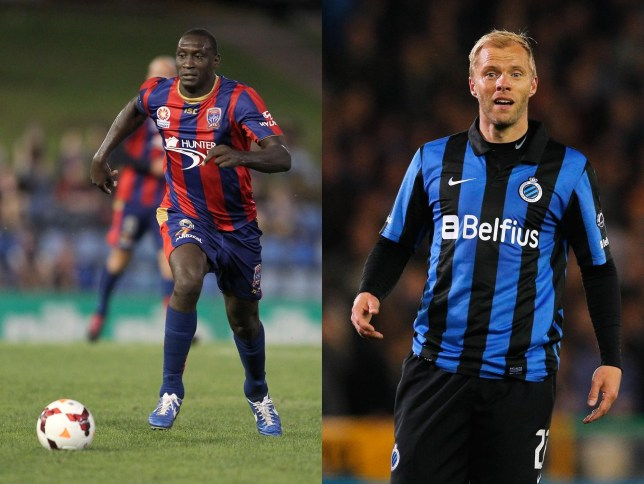 Acceptable in the 90s: Bolton's potential new strikeforce of Heskey (left) and Gudjohnsen (Picture: Getty Images)