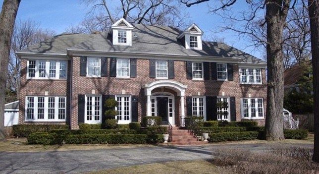 Iconic: The McAllister family residence from the Home Alone films (Picture: Coldwell Banker)