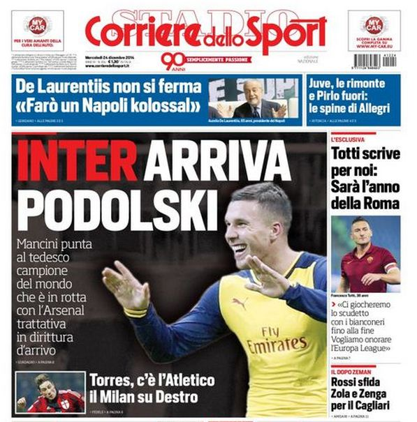 Lukas Podolski transfer negotiations already 'in the pipeline' between Arsenal and Inter Milan
