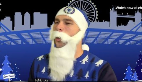Chelsea stars Eden Hazard, Petr Cech and Branislav Ivanovic haven't quite got the hang of Christmas