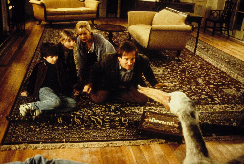 Robin Williams, Kirsten Dunst, Bonnie Hunt and Bradley Pierce in Jumanji