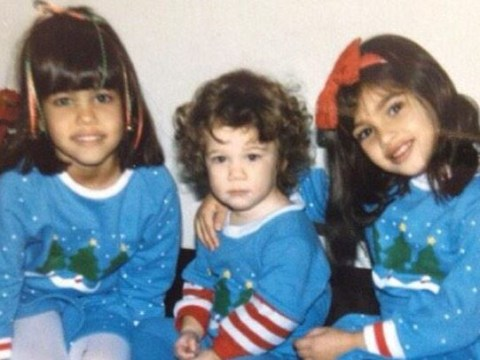 Kim Kardashian West has shared the cutest Christmas throwback picture ever