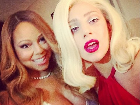 It's Mariah Carey and Lady Gaga together in the ultimate diva selfie