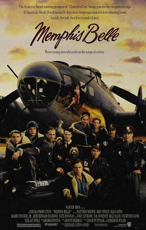 Memphis Belle film poster from 1990, starring Eric Stoltz, Harry Connick Jr