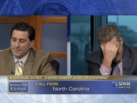 'Oh God, it's Mom': Bickering brothers receive call from mother during televised debate