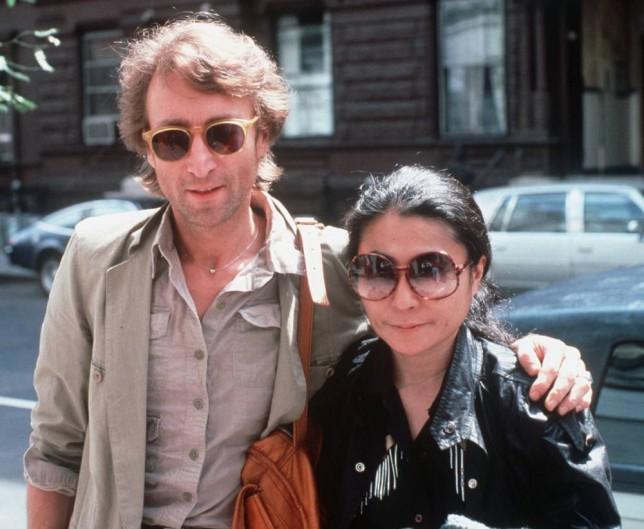 John Lennon and his wife, Yoko Ono