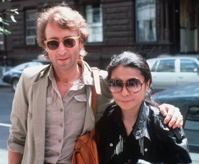 John Lennon and his wife, Yoko Ono