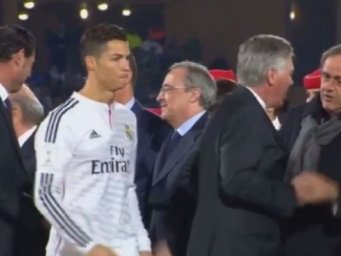 Cristiano Ronaldo snubs UEFA president Michel Platini after Real Madrid win Club World Cup