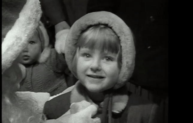 1959 footage of children telling Santa what they want for Christmas