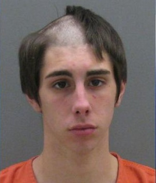 Cody Antoniello, arrested while shaving his head, has the