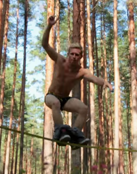 Chippendale who? Say hello to the slacklining stripper