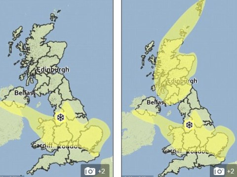 Yellow snow on the way! Met Office weather map has people in hysterics on social media
