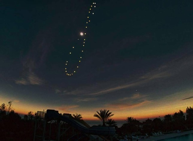 The photograph shows the incredible transition of the sun through the year (Picture: Reddit/hidesertech)