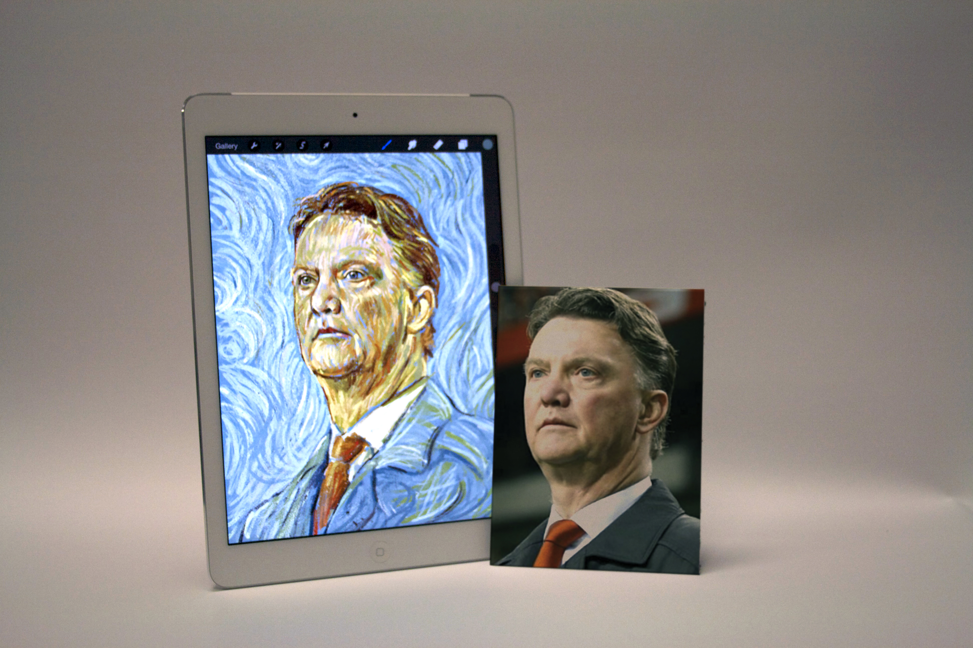 Watch artist incredibly recreate Manchester United and Southampton bosses Louis van Gaal and Ronald Koeman in the style of Dutch artists