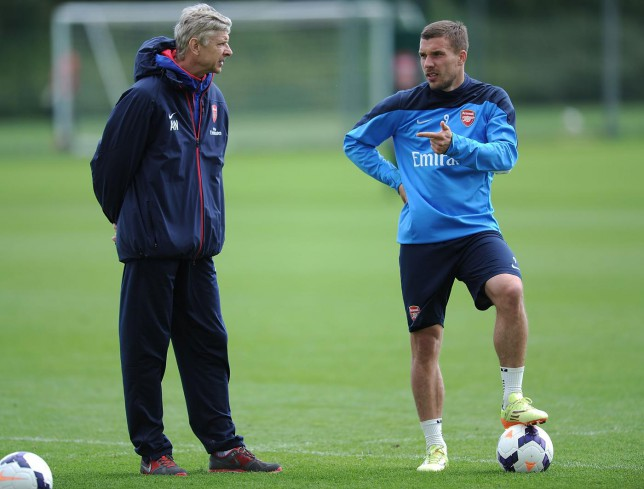 Arsene Wenger denies failing to say goodbye to Lukas Podolski before he made Inter Milan transfer