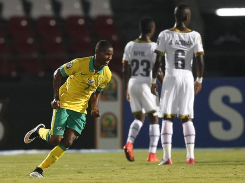 South Africa's Mandla Masango scores INCREDIBLE volley against Ghana in Africa Cup of Nations