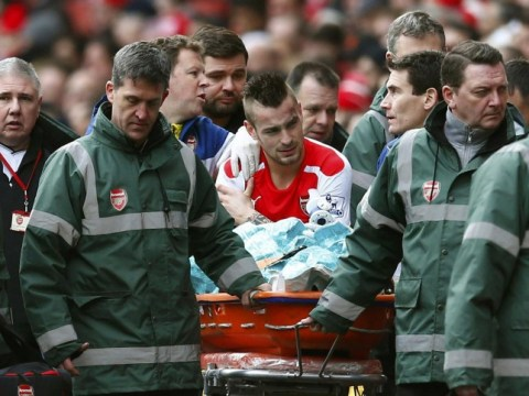 Mathieu Debuchy will miss Manchester City game after dislocating shoulder, Arsene Wenger confirms