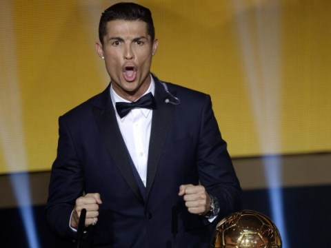 Cristiano Ronaldo celebrates 2014 Ballon d'Or win with seriously bizarre war cry on stage