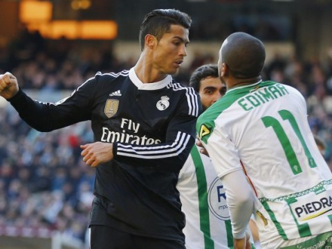 Cristiano Ronaldo set to avoid three-match ban as referee deems red-card outburst against Cordoba 'not violent conduct'