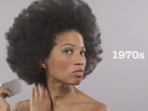 Second time-lapse video shows 100 years of beauty in one minute, but this time with an African American model