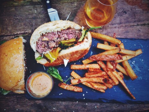 Burns night 2015 recipe: Haggis burger with neep and tattie fries and whisky sauce