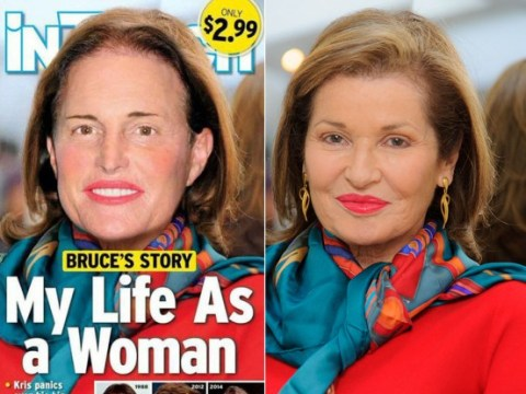 Bruce Jenner's face Photoshopped on to Dynasty's Stephanie Beacham for 'transwoman' InTouch Weekly cover