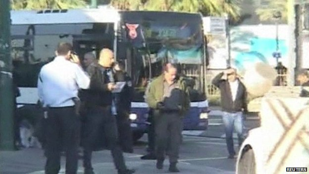 Three in serious condition after up to 10 Israelis are stabbed in 'terrorist' bus attack