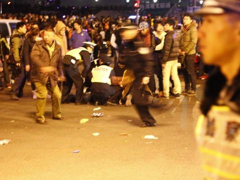 Stampede at Shanghai New Year's celebrations kills 36 people