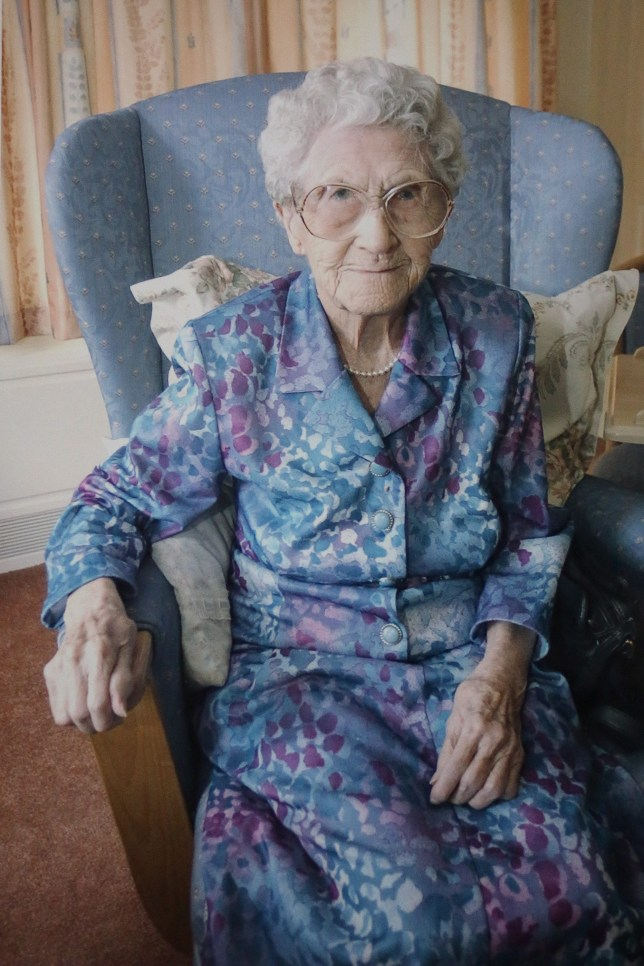 Ethel Lang, pictured when she was 106  (Picture: Tom Maddick / Rossparry.co.uk)