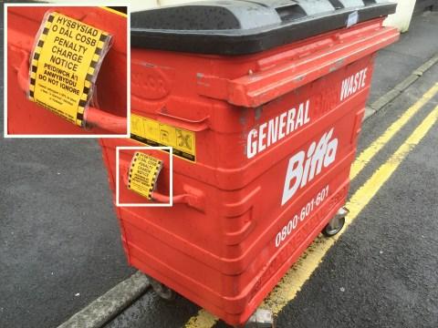 A traffic warden tried to give a wheelie bin a ticket
