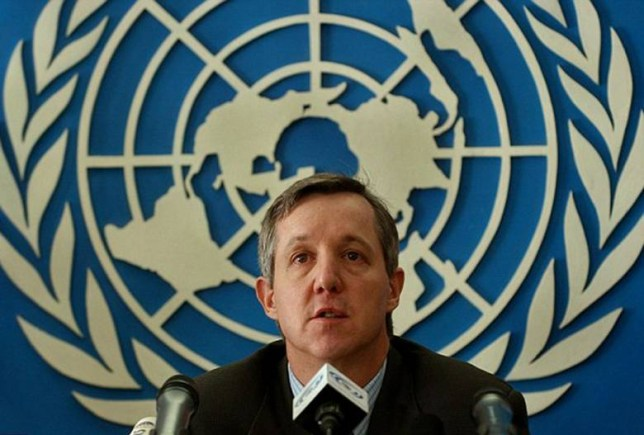 Anthony Banbury (pictured) will step aside as head of the Ebola Emergency response mission today.jpg