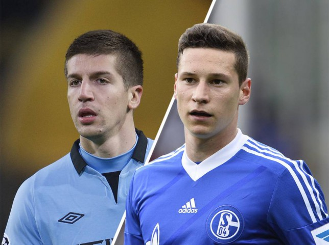 FREIBURG, GERMANY - MAY 03: Julian Draxler of Schalke 04 reacts during the Bundesliga match between SC Freiburg and FC Schalke 04 at Mage Solar Stadium on May 03, 2014 in Freiburg, Germany.  (Photo by Michael Kienzler/Bongarts/Getty Images)