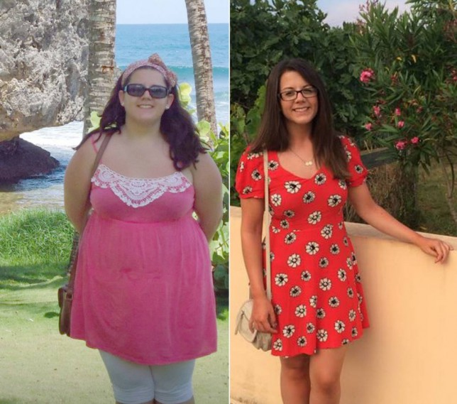 PIC FROM CATERS NEWS  - (PICTURED: Charlotte before her weight loss ) - A party girl who gained weight at university after constant boozing, has shed a massive SIX STONE thanks to giving up her party animal ways. Charlotte DeAbreau, 24, from Walsall, West Mids, was tipping the scales at 15st 11lb and was struggling to fit into a size 18 when she finished her degree at Bangor University, North Wales. Endless nights out drinking and tucking into late night pizzas and chips had taken her toll on her figure and Charlotte was at rock bottom. So  after she graduated Charlotte signed up for Slimming World and has now shed a massive SIX stone and can finally slip dresses in a slinky size 10-12. SEE CATERS COPY.