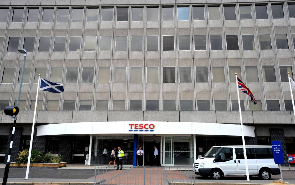File photo dated 26/08/08 of the Tesco headquarters in Cheshunt, Hertfordshire, as Tesco is to shut 43 unprofitable stores and shut its head office in Cheshunt in 2016, making its base Welwyn Garden City. PRESS ASSOCIATION Photo. Issue date: Thursday January 8, 2015. See PA story CITY Tesco. Photo credit should read: Ian Nicholson/PA Wire