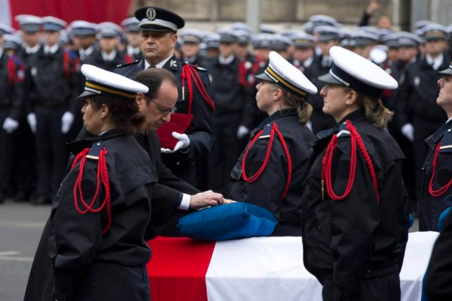 France pays tribute to police officers killed in terror attack