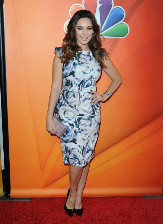PASADENA, CA - JANUARY 16:  Actress Kelly Brook arrives at NBCUniversal's 2015 Winter TCA Tour - Day 2 at The Langham Huntington Hotel and Spa on January 16, 2015 in Pasadena, California.  (Photo by Angela Weiss/Getty Images)