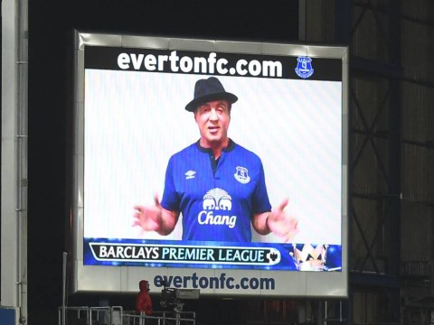 Sylvester Stallone turns up at Everton game to film new Rocky movie, delivers half time message to fans