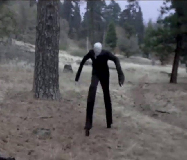 "Pictured  - Slenderman. See South West copy NTIGHOST. A beauty spot which was plagued by ghostly sightings of the notorious Black Eyed Child is now being haunted by an 8ft ""Slender Man"", it has been claimed.  The long, stick-thin spectre has been seen by several terrified residents, with three of the incidents occurring inside peopleís homes, as well as his appearance in the woods of Cannock Chase, Staffs. Each of the chilling close encounters took place in the quiet mining town , which has a history of supernatural sightings, including the infamous Black Eyed Child."