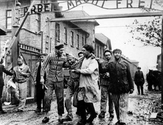 L'armée soviétique libère des prisonniers à Auschwitz