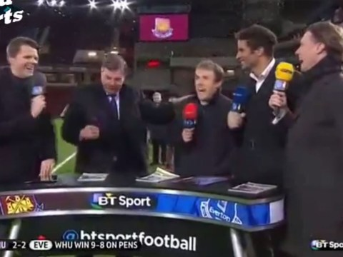 Sam Allardyce mocks Phil Neville over 'coffee-gate' after West Ham knock Everton out of FA Cup