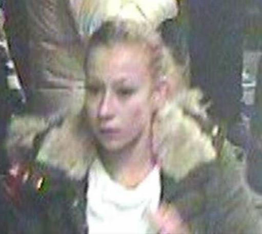 One of the women BTP want to speak with in connection with the attack (Picture: BTP)