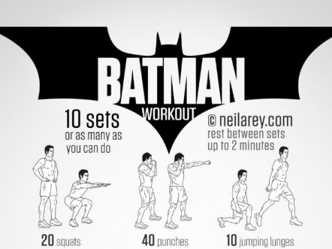 Introducing the Batman workout which promises to help you fight crime (and work your lower abs)