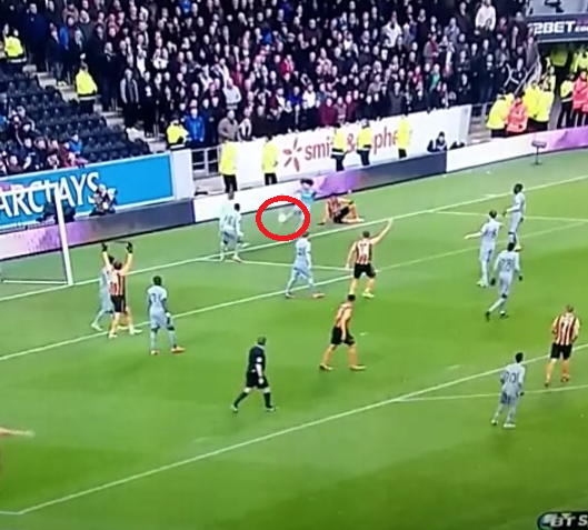 Fabricio Coloccini nearly pulled off the impossible (Picture: BT Sport)